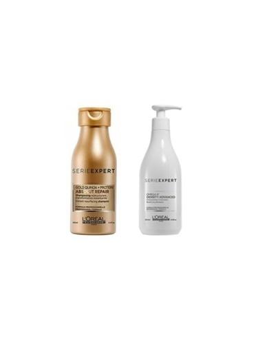 L'oreal Professionnel Loreal Density Advanced Omega 6 Şampuan 500 Ml+Gold Absolut Repair Şampuan 100 Ml Seyahat Boyu Renksiz